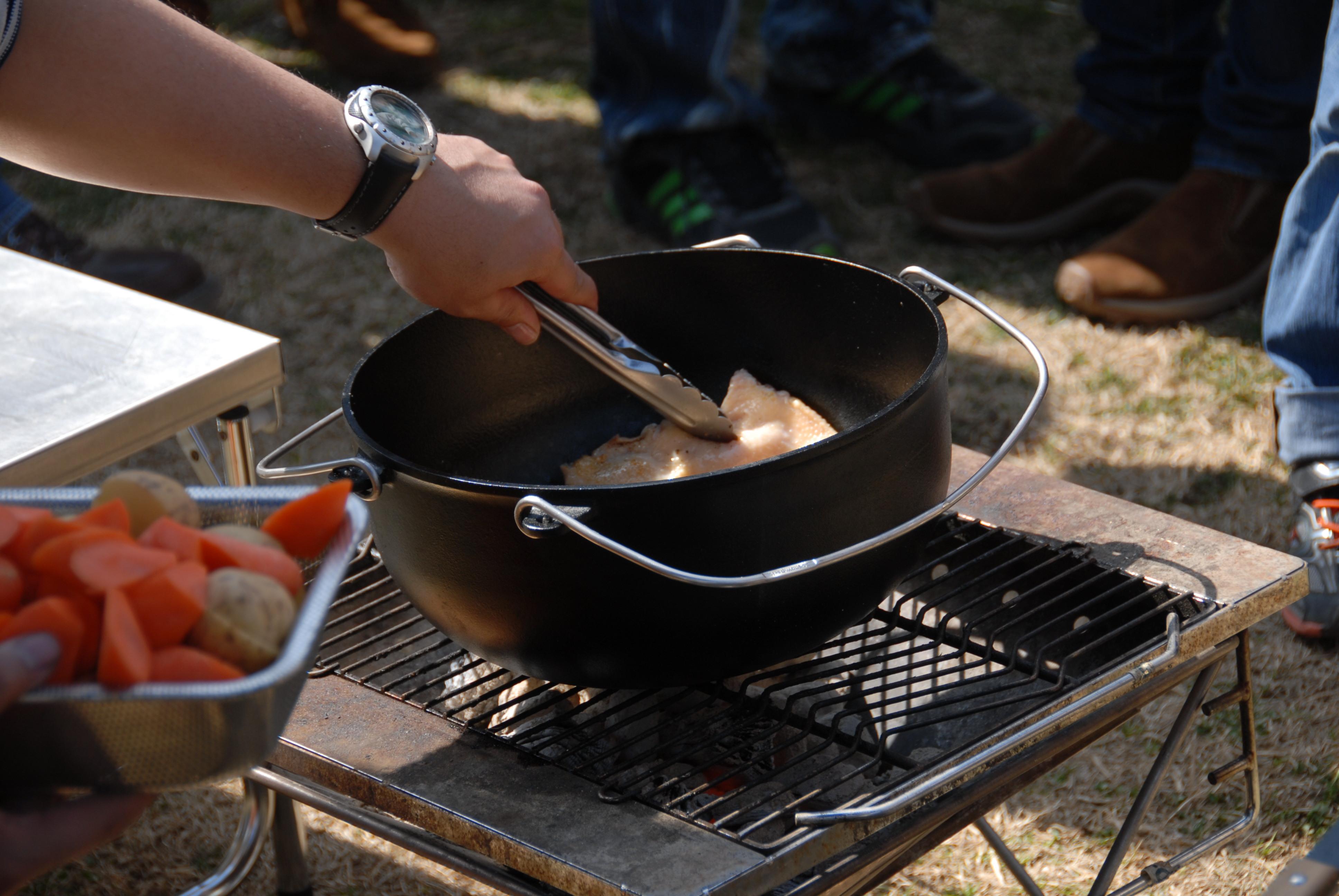 ダッジオーブンでみやがせ鍋をつくろう