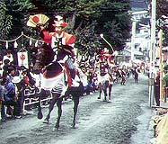 室生神社の流鏑馬の模様