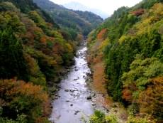 亀見橋から見た道志川のタイトル画像