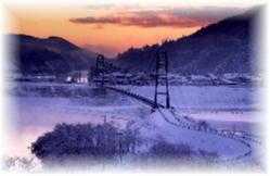 水の郷大つり橋