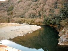 馬渡橋付近の中津川