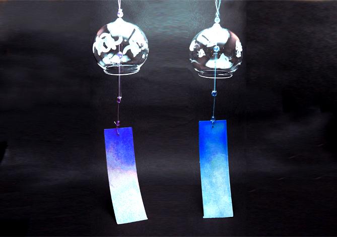 藤野芸術の家 ガラス工芸 サンドブラスト ガラスの風鈴