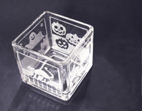 藤野芸術の家 ガラス工芸 サンドブラストでキャンドルフォルダー作り