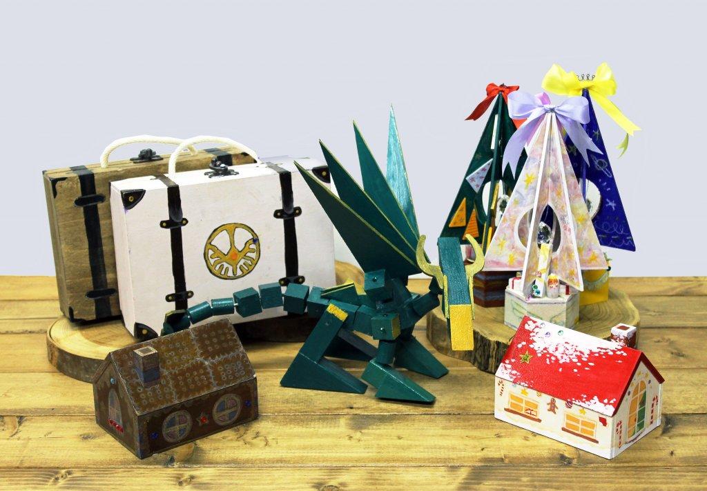 ファンタジックな木のクラフト~ツリー・ドラゴン・トランク・おうち箱づくり