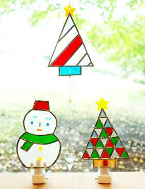 かんたんステンドアートで作ろう!クリスマスウォールランプ&サンキャッチャー
