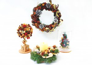 藤野芸術の家クリスマス限定体験工房メニュー  クリスマスリース作り