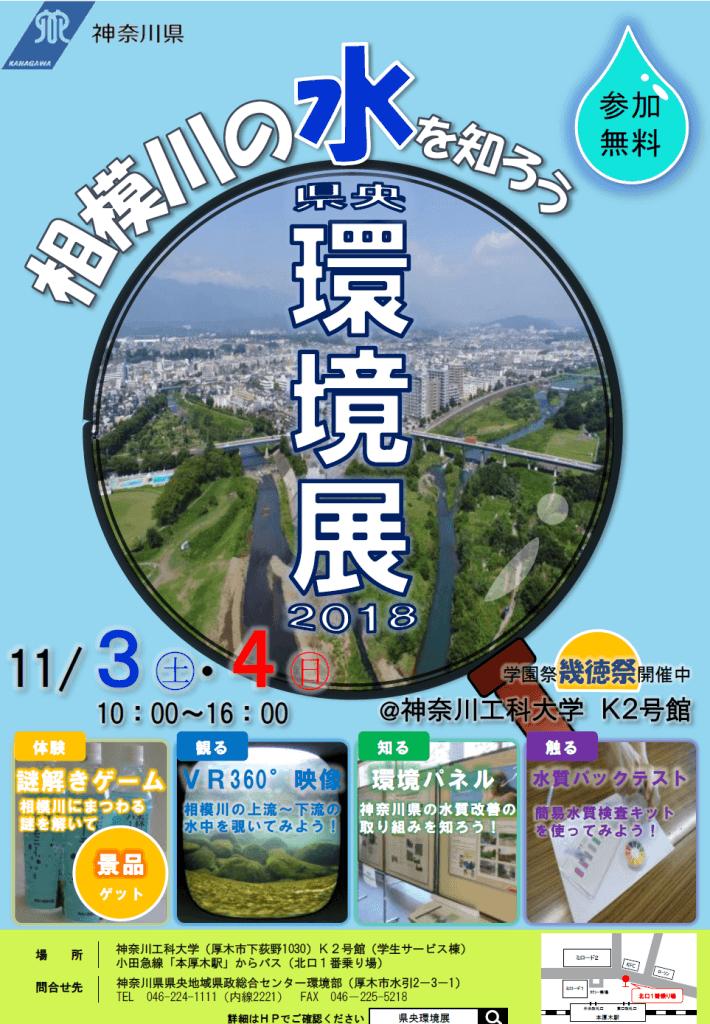 県央環境展2018-母なる川、相模川の水を知ろう!-