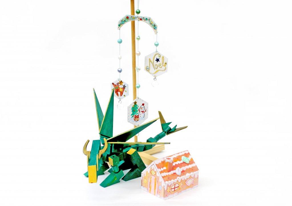 藤野芸術の家 冬限定体験工房メニュー 木工クラフト・お菓子のおうち箱/クラフトドラゴン/木の壁飾りづくり