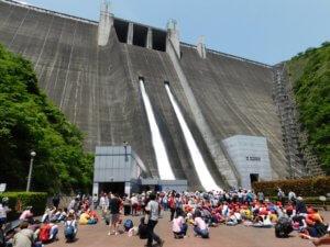 宮ヶ瀬ダム春休み観光放流のタイトル画像