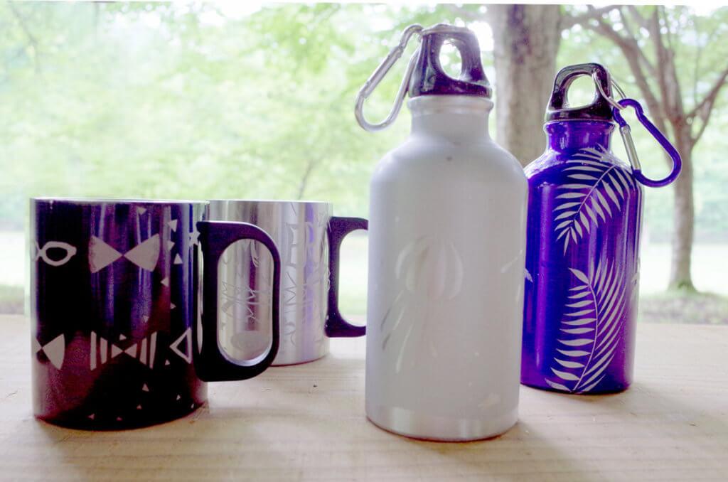 体験工房 夏限定季節メニュー 自由工房 サンドブラストで作るカラビナ付きアルミボトルorステンレスマグカップ