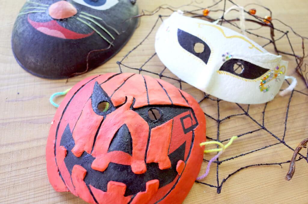 藤野芸術の家 体験工房 秋限定季節メニュー ハロウィン仮面作り