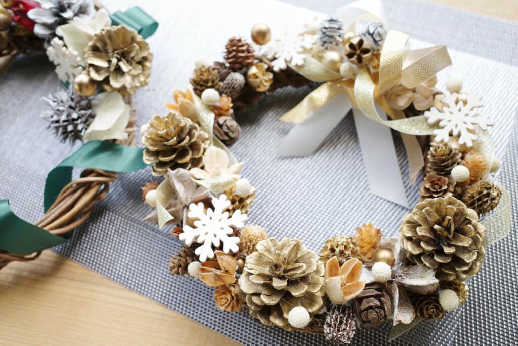 藤野芸術の家 冬限定季節メニュー クリスマスリース作り