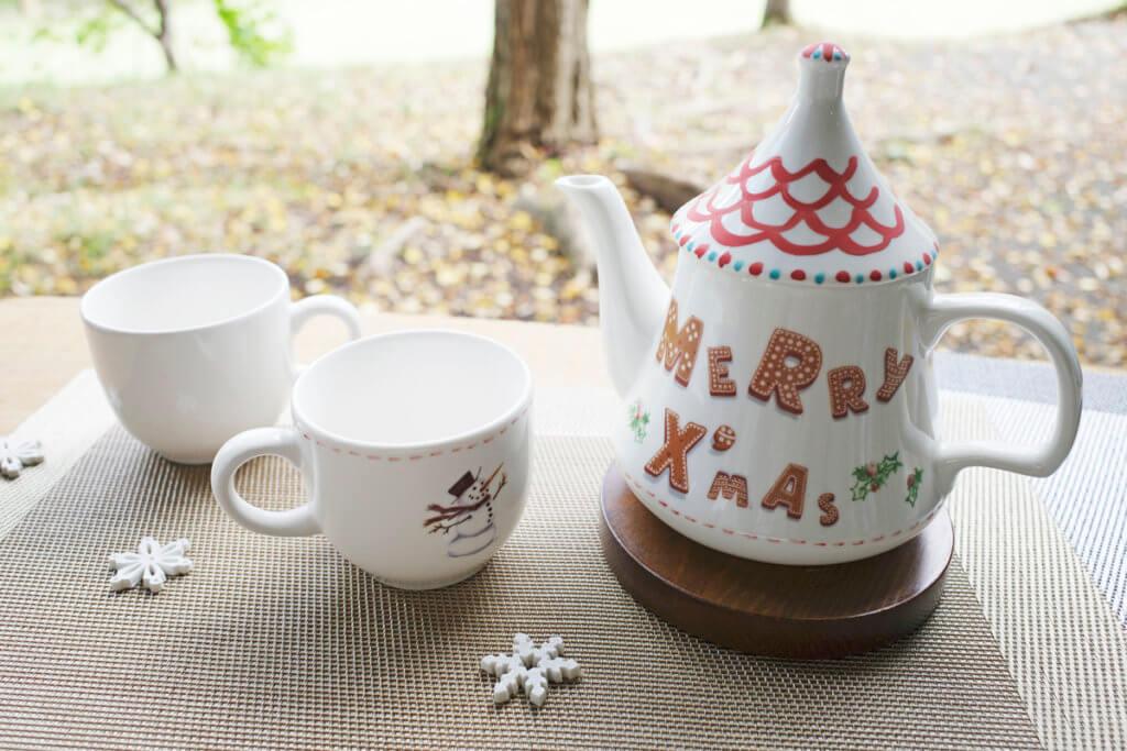 藤野芸術の家 冬限定季節メニュー クリスマスポットとマグカップの絵付け