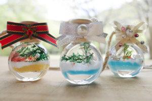 藤野芸術の家 冬限定季節メニュー クリスマスハーバリウム作り