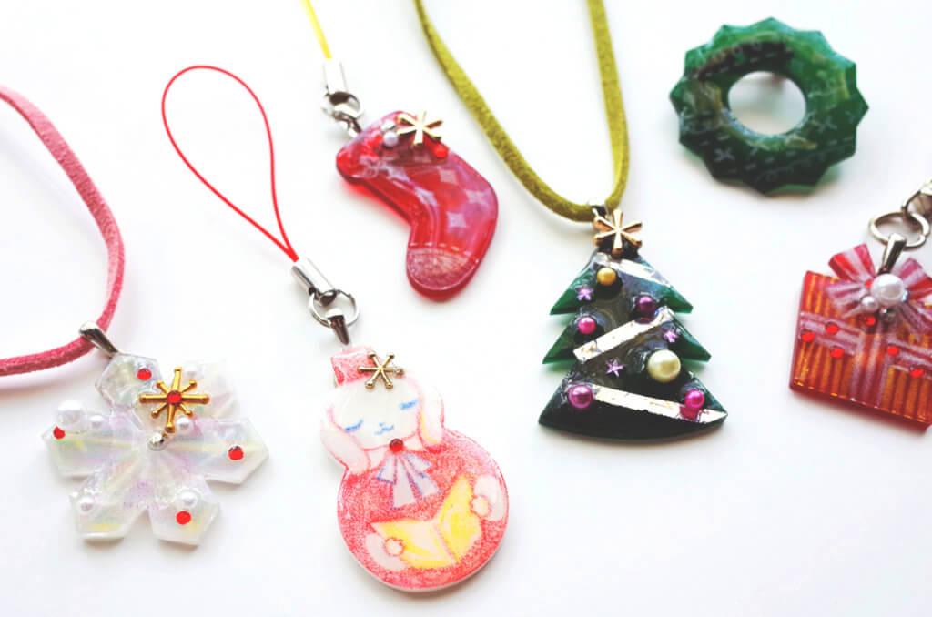 藤野芸術の家 冬限定季節メニュー レジンのクリスマスアクセサリー作り