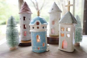 藤野芸術の家 冬限定季節メニュー 陶器のおうちランプ作り