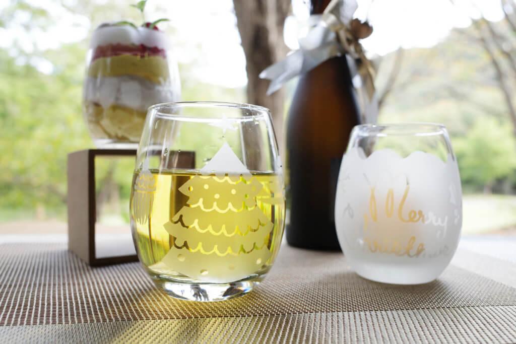 藤野芸術の家 冬限定季節メニュー サンドブラストで作るマルチグラス