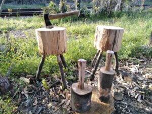 グリーンウッドワーク暮らしのものづくり講座!「間伐材でチョッピングブロック(作業台)とマレット(木槌)づくり体験in西丹沢」のタイトル画像