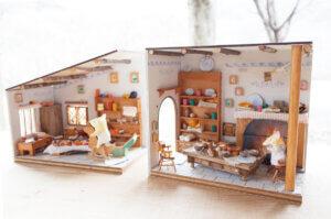 初夏限定季節メニュー 四角型ドールハウス<木の工房>